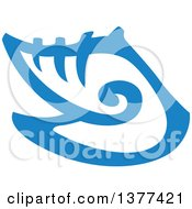 Clipart Of A Blue Conch Sea Shell Royalty Free Vector Illustration