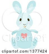 Blue Bunny Rabbit Sitting