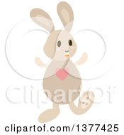 Bunny Rabbit With A Heart On His Chest