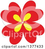 Red And Yellow Flower Design