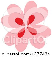 Pink And Red Flower Design