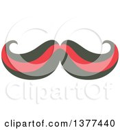 Clipart Of A Curling Mustache Royalty Free Vector Illustration by Cherie Reve