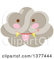 Clipart Of A Smoke Cloud Character Sticking His Tongue Out Royalty Free Vector Illustration by Cherie Reve
