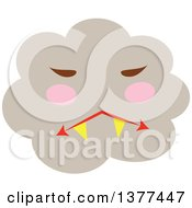 Clipart Of A Smoke Cloud Character Royalty Free Vector Illustration by Cherie Reve