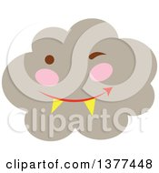 Clipart Of A Smoke Cloud Character Royalty Free Vector Illustration