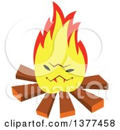 Clipart Of A Camp Fire Character Royalty Free Vector Illustration