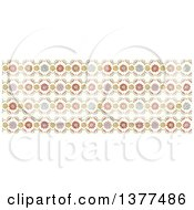Clipart Of A Vintage Spring Time Floral Lace Background Royalty Free Vector Illustration