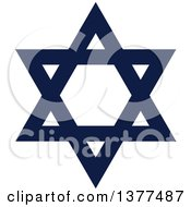 Clipart Of A Dark Blue Hanukkah Star Of David Royalty Free Vector Illustration by Cherie Reve