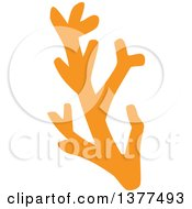 Clipart Of A Branch Of Orange Coral Royalty Free Vector Illustration