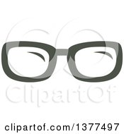 Clipart Of A Pair Of Eye Glasses Royalty Free Vector Illustration