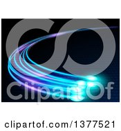 Clipart Of A Background Of Glowing Optical Fibers Royalty Free Vector Illustration by dero