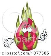 Clipart Of A Pitaya Dragon Fruit Character Royalty Free Vector Illustration