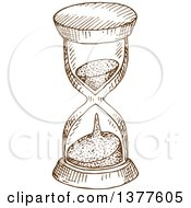 Clipart Of A Brown Sketched Hourglass Royalty Free Vector Illustration by Vector Tradition SM