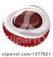 Clipart Of A Lychee Fruit Royalty Free Vector Illustration