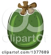 Clipart Of A Pineapple Guava Royalty Free Vector Illustration by Vector Tradition SM