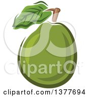 Clipart Of A Guava Fruit Royalty Free Vector Illustration