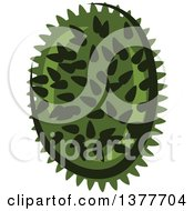 Clipart Of A Durian Fruit Royalty Free Vector Illustration by Vector Tradition SM