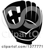 Poster, Art Print Of Black And White Baseball Glove