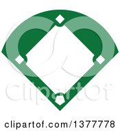 Clipart Of A Green And White Baseball Field Royalty Free Vector Illustration