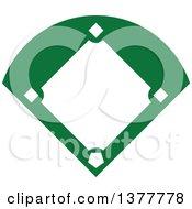 Poster, Art Print Of Green And White Baseball Field