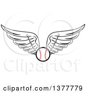 Clipart Of A Winged Baseball Royalty Free Vector Illustration by Vector Tradition SM