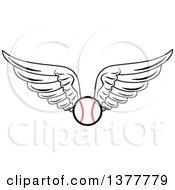 Poster, Art Print Of Winged Baseball