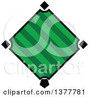 Clipart Of A Green Baseball Diamond Royalty Free Vector Illustration