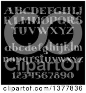 Clipart Of Chalk Letters And Numbers On A Black Board Royalty Free Vector Illustration by Vector Tradition SM