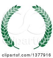 Clipart Of A Green Wreath Royalty Free Vector Illustration by Vector Tradition SM