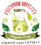 Clipart Of A Pear And Juice Food Design With Text Royalty Free Vector Illustration by Vector Tradition SM