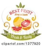 Clipart Of A Grapefruit Food Design With Text Royalty Free Vector Illustration by Vector Tradition SM