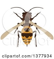Clipart Of A Bee Or Wasp Royalty Free Vector Illustration by Vector Tradition SM