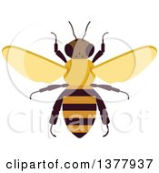 Clipart Of A Bee Royalty Free Vector Illustration by Vector Tradition SM