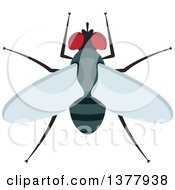 Clipart Of A Fly Royalty Free Vector Illustration by Vector Tradition SM