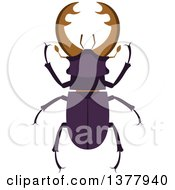 Clipart Of A Stag Beetle Royalty Free Vector Illustration by Vector Tradition SM
