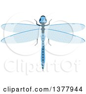 Clipart Of A Blue Dragonfly Royalty Free Vector Illustration by Seamartini Graphics