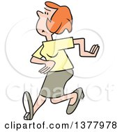 Clipart Of A Cartoon Angry Woman Walking Royalty Free Vector Illustration