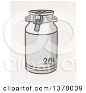 Clipart Of A Metal Milk Churn On Fiber Texture Royalty Free Illustration by NL shop
