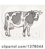 Dairy Cow On Fiber Texture