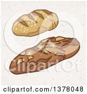 Bread Loaves On Fiber Texture