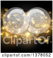 Clipart Of A Magical Sparkle Heart With Gold Bokeh Flares Royalty Free Vector Illustration by KJ Pargeter