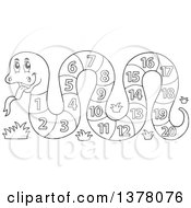 Clipart Of A Black And White Snake With A Number Body Royalty Free Vector Illustration by visekart