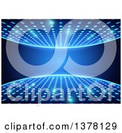 Clipart Of A Discotheque Background Of Blue Lights And Text Space Royalty Free Vector Illustration by dero