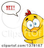 Poster, Art Print Of Yellow Chick Peeking Around A Corner And Saying Hi