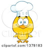 Clipart Of A Yellow Chef Chick Royalty Free Vector Illustration