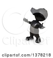 Clipart Of A 3d Black Man Wearing A Virtual Reality Headset On A White Background Royalty Free Illustration