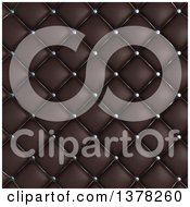 Clipart Of A Background Of 3d Quilted Leather Upholstery Royalty Free Illustration