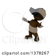 Clipart Of A 3d Brown Man Wearing A Virtual Reality Device On A White Background Royalty Free Illustration by KJ Pargeter