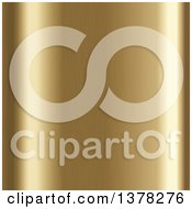 Clipart Of A Background Of Light Shining Off Of Brushed Gold Royalty Free Vector Illustration