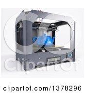 3d Printer Printing A Tea Pot On A White Background